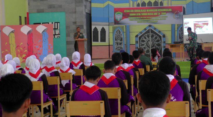 Sosialisasi Wawasan Kebangsaan Dalam Rangka Binter Terpadu Dibuka oleh Dandim 0118/Subulussalam