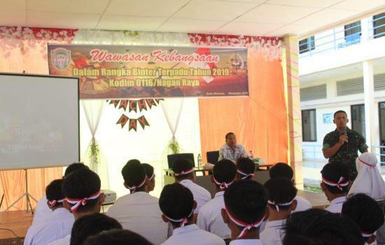 Dandim Nagan Raya Bekali Wawasan Kebangsaan di SMA Bunga Bangsa