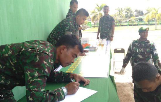 Asintel Kodam Iskandar Muda Laksanakan Sidak Tes Urine di Kodim 0109/Aceh Singkil