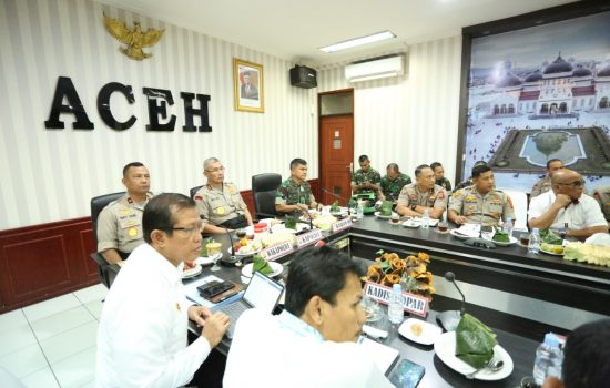 Kasdam IM Hadiri Video Conference di Polda Aceh