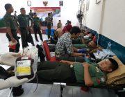 Peringati Hari Juang TNI AD Dandim 0103/Aut Gelar Bakti Sosial Donor Darah