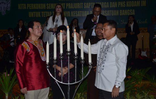 Keluarga Besar Kodam IM yang Beragama Kristiani Rayakan Natal