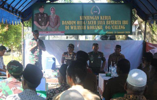 Dandim 0114/Aceh Jaya Bersilaturahmi Dengan Masyarakat Krueng Sabee