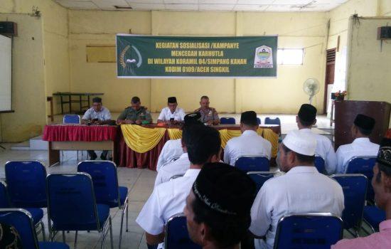 Danramil 04/Simpang Kanan Hadiri Sosialisasi/Kampanye Karhutla