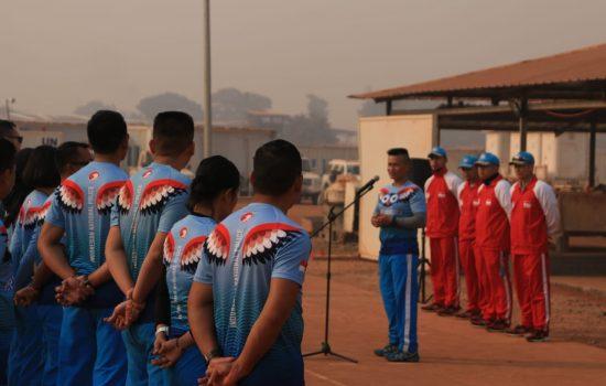 TNI-Polri di Afrika Tengah Membangun Sinergitas