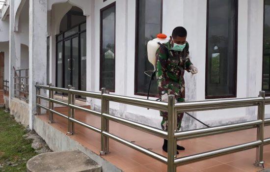 Cegah Virus Corona, Kodim Aceh Jaya Lakukan Sosialisasi hingga Penyemprotan Disinfektan
