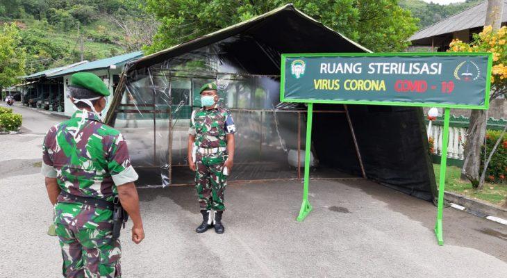 Makodim 0107/Aceh Selatan Sediakan Bilik Penyemprotan Disinfektan