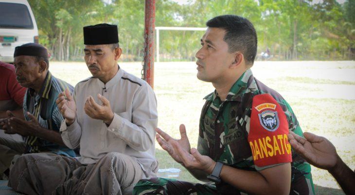 Do'a Bersama Awali Pelaksanaan TMMD Ke-107 Kodim 0104/Atim