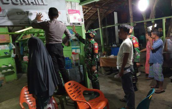 Lagi, Kodim Nagan Raya Bersama Tiga Pilar Patroli ke Warung-Warung