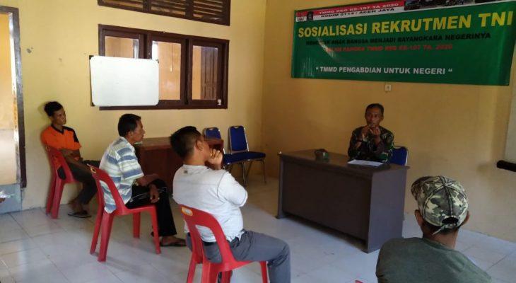 Satgas TMMD Ajak Pemuda Desa Terpencil Masuk TNI