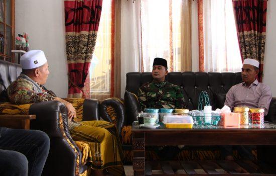 Melalui Silaturahmi Dandim 0104/Atim Bentuk Kemanunggalan TNI Dengan Para Ulama