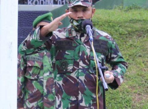 Dandim 0110/Abdya Ajak Prajurit Tingkatkan Etos Kerja