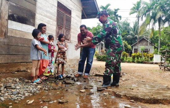 Cegah Penyebaran Covid-19, Ini Yang Dilakukan Jajaran Koramil 01/Sungai Mas