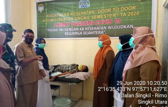 Kodim Aceh Singkil Laksanakan Program KB Kesehatan Semester I Secara Door to Door