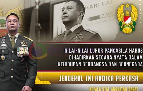 """Kasad Jenderal TNI Andika Perkasa Ikuti Upacara Virtual Peringati Hari Lahir Pancasila TNI AD 60"""""""