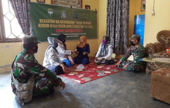 Harganas ke – 27, Kodim 0114/Aceh Jaya dan DPMPKB Lakukan Pelayanan KB Kepada 548 Peserta