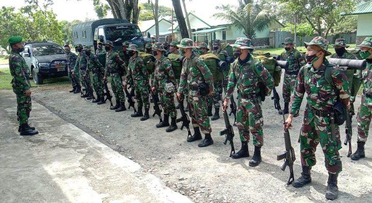 Puluhan Personel Satgas TMMD Reg ke-108 Dari Batalyon 116/GS Telah Tiba Di Desa Lango