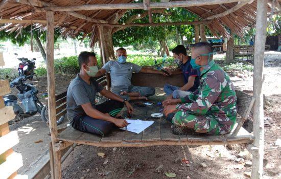 Cegah Covid-19, Babinsa Himbau Warga Ikuti Protokol Kesehatan