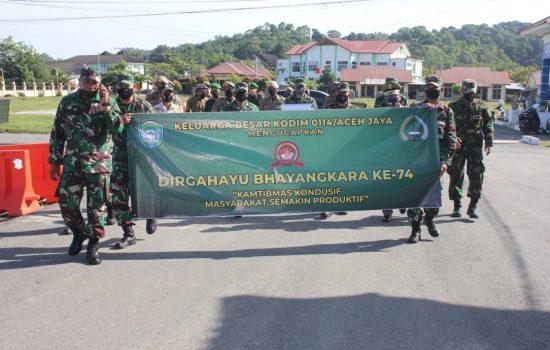 Puluhan Anggota TNI Datangi Polres Aceh Jaya