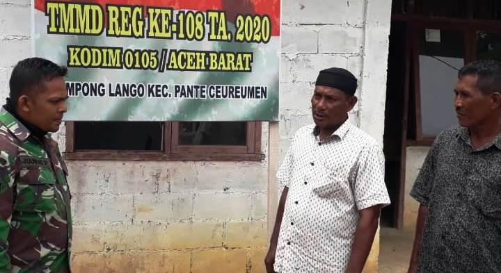 Apresiasi Dan Tanggapan Keucik Adanya TMMD Ke-108 Di Desa Lango
