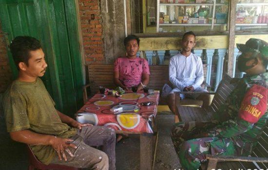 Serda Arif P Siregar Sebagai Babinsa Berharap Masyarakat Jangan Lengah Menghadapi Covid-19