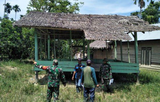 Para Danramil Jajaran Kodim 0103/Aut Koordinator Materi Kegiatan Cek Lokasi Serbuan Teritorial