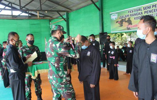 Danrem 012/Teuku Umar Motivasi Pengembangan Pencak Silat di Nagan Raya