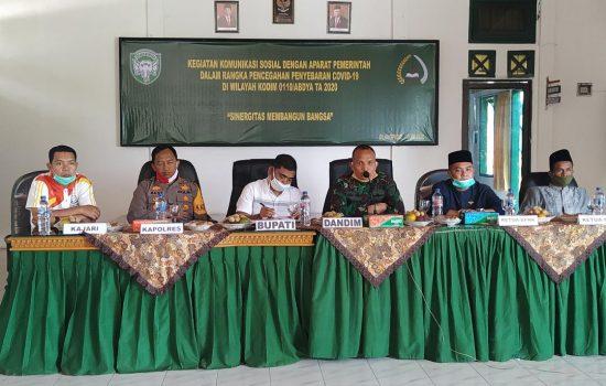 Dandim 0110/Abdya Gelar Komunikasi Sosial (Komsos) Bersama Forkopimda Kabupaten Abdya
