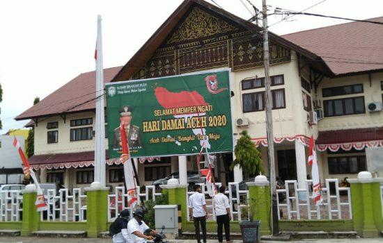 Peringati Hari Damai Aceh 2020, Kodim 0105/Abar Pasang Baleho Di Beberapa Titik