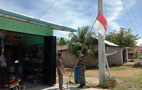 Sambut HUT Kemerdekaan RI, Kodim Aceh Jaya Ajak Warga Kibarkan Merah Putih