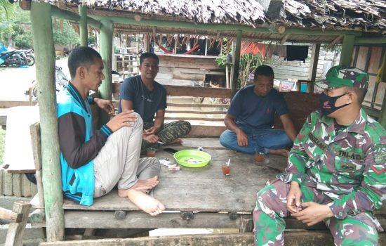 Kasus Covid-19 Meningkat di Aceh, Babinsa Terus Himbau Warga Patuhi Protokol Kesehatan