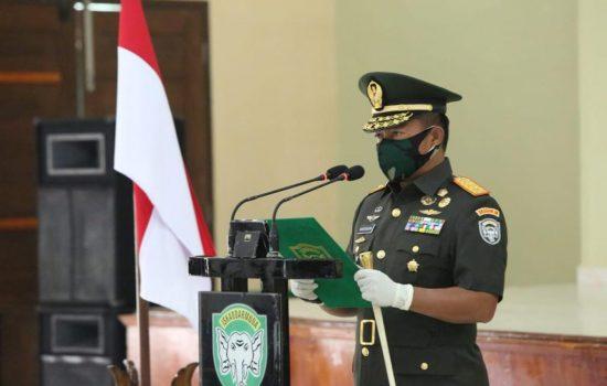 Pangdam IM Mayjen TNI Hassanudin, S.I.P., M.M. Lantik 363 Prajurit Tamtama