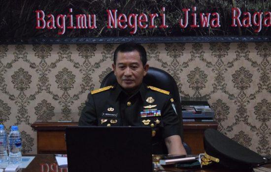 Kapoksahli Pangdam IM Ikuti Pencanangan Zona Integritas Menuju Wilayah Bebas Korupsi BPN Aceh
