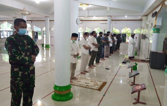 Cegah Covid-19, Jasdam IM Terapkan Disiplin dan Penegakan Hukum Prokes di Mesjid Al – Fitrah