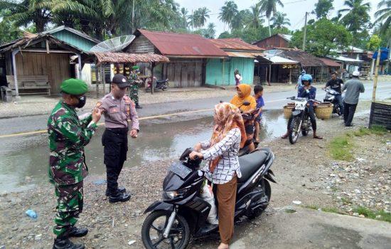 Putuskan Mata Rantai Covid-19, personil Gabungan TNI/Polri dan Dinas terkait Wilayah Kluet Rutinkan Razia Penegakan Disiplin Protkes