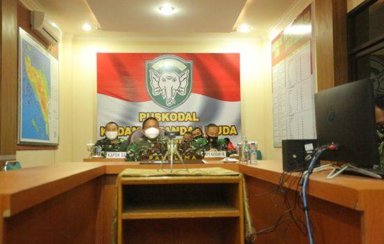 Pangdam IM Ikuti Rakor Virtual Bersama Ketua Satgas Penanganan Covid-19 Nasional, Ini yang Dibahas