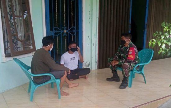 Komsos dengan Pemuda, Ini Disampaikan Babinsa Koramil 09/Trumon
