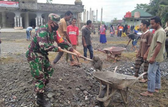 Sukseskan MTQ ke IX Aceh Jaya, TNI dan Warga Gotong Royong