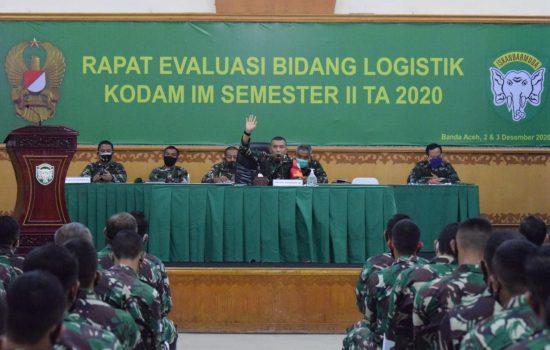 Tingkatkan SDM, Kodam IM Gelar Rapat Evaluasi Bidang Logistik
