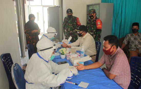 Bantu Pemerintah Percepat Penanganan Covid-19, Kodim 0107/Aceh Bersama Dinas Terkait Gelar Rapit Test di Dua Kecamatan