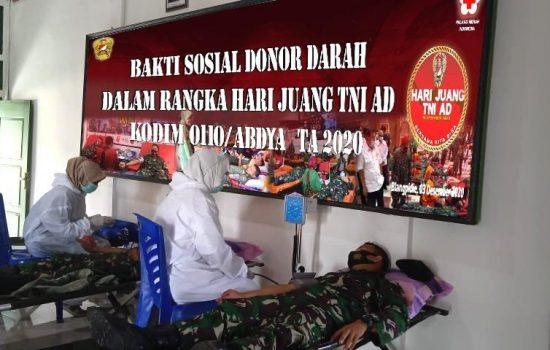 Peringati Hari Juang TNI- AD Tahun 2020, Kodim 0110/Abdya Gelar Kegiatan Donor Darah