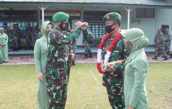Dandim Sambut Personel Satgas Teritorial & Lepas Prajurit.