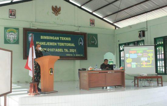 Danramil dan Babinsa Jajaran Kodim 0107/Aceh Selatan Menerima Bimtek Manejemen Teritorial TA 2021