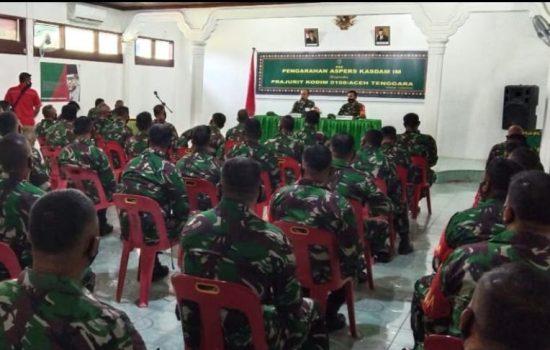 Pesan Aspers Kasdam IM; Bijak Bermedsos Bagi KBT Yang Dapat Merugikan Citra TNI