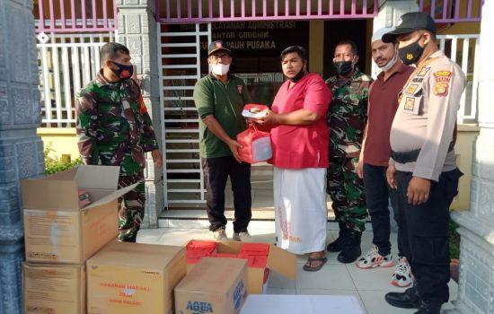 Kontribusi Personel Ramil 22/Lgsb Dalam Penyerahan Bantuan Untuk Korban Kebakaran
