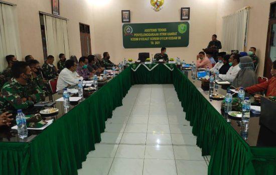 Dandim 0103/Aceh Utara Sambut Tim Asnis dari Pusterad