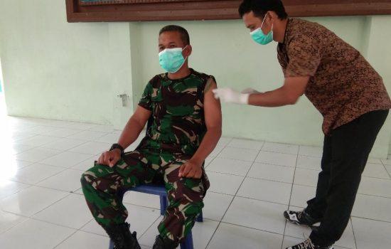 Seluruh Personil Kodim 0107/Aceh Selatan Terima Vaksinasi Covid-19 Dosis ke Dua