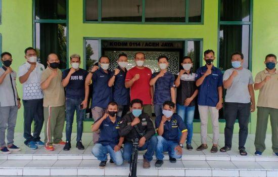 Silaturahmi dengan Insan Media Pers Wilayah Aceh Jaya Dandim Ucapkan Terimakasih