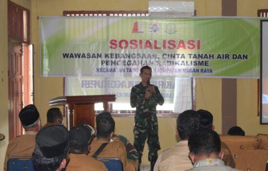 Kodim Nagan Raya Berikan Wawasan Kebangsaan Kepada Aparat Desa