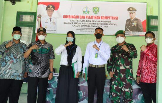 Kodim 0111/Bireuen Berikan Bimbingan dan Pelatihan Kompetensi Kepada Calon Prajurit TNI AD Caba PK 2021